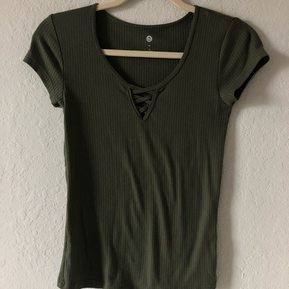 SO Tops - Green Fitted Tee